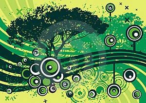 Grunge Tree Design Royalty Free Stock Photos - Image: 4922668
