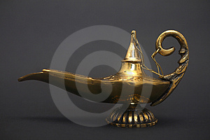 Magic Genie Lamp Stock Images