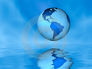 Globe Above Water Royalty Free Stock Images - Image: 4923129