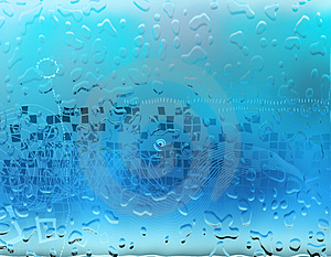Aqua Water Drops Background Stock Photography - Image: 4925432