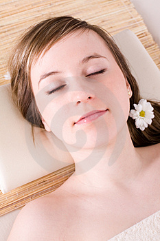 Woman taking spa treatment