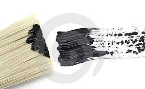 Peinture - Course Noire De Brosse Avec La Brosse Image stock - Image: 4934031