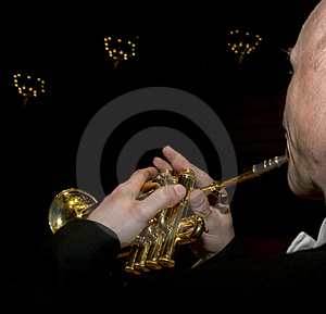 Trumpet Player Stock Photo - Image: 4936250