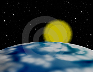 Earth And Sun Stock Photos - Image: 4936413