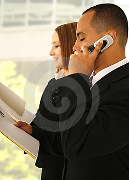 Business Team Busy Working Stock Images