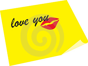 Note Love You And Kiss Stock Photo - Image: 4938010