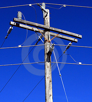 Electric Utility Pole. Royalty Free Stock Photos - Image: 4938788