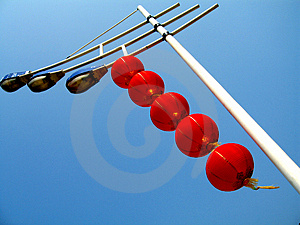 Under The Street Lamps Lanterns Stock Image - Image: 4945531