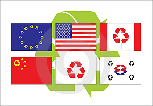 Recycle Flags Stock Image - Image: 4947151