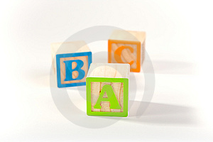 Wooden ABC Blocks Royalty Free Stock Images