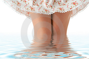 Woman Legs And Shoet Romance Skirt Stock Photography - Image: 4953982
