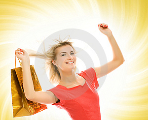 Woman With A Bag Stock Photo - Image: 4954870