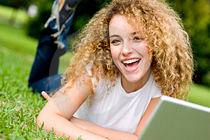 Girl In Park Royalty Free Stock Photos