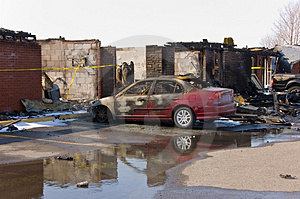 Motel Fire Stock Images - Image: 4962864