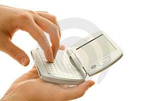 Using PDA Stock Photo - Image: 4968760