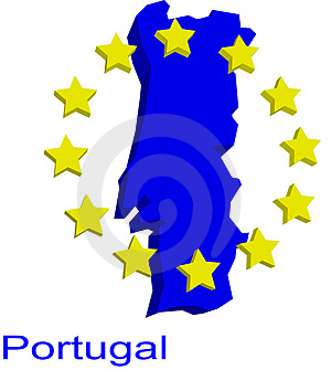 Contour Map Of Portugal Royalty Free Stock Image - Image: 4970576