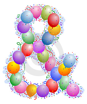 Balloons And Confetti - Ampersand Stock Image - Image: 4970711