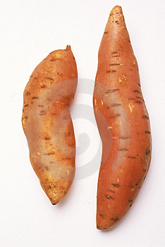 Two sweet potatoes Royalty Free Stock Image
