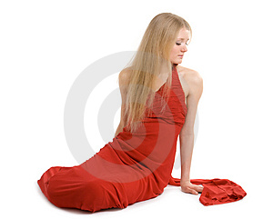 Attractive girl in cocktail dress Royalty Free Stock Images