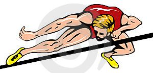 Athlete Doing The High Jump Royalty Free Stock Photo - Image: 4982305