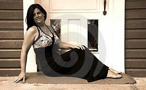 Woman In Doorway Stock Images - Image: 4982704