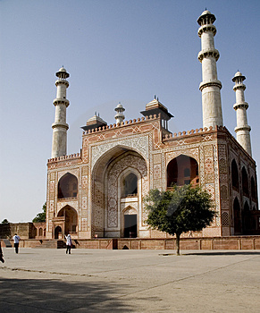 The Door Of Akbar's Tomb Royalty Free Stock Image - Image: 4986626