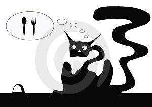 Hungry Cat Stock Photos - Image: 4988253