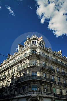 Apartment Building Corner Royalty Free Stock Image - Image: 4989016