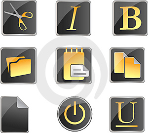 Office Icons Stock Photography - Image: 4992732