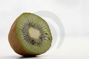 A Fresh Slice Of Kiwi Stock Photo