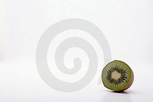 A Kiwi Slice Showing Loneliness Stock Photos