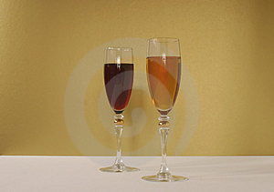 Red Wine Or White Stock Images