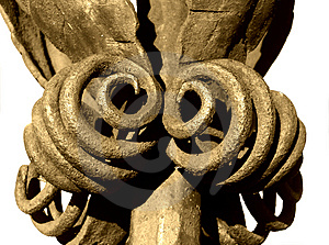 Old Iron Ornamen, Isolated Free Stock Images
