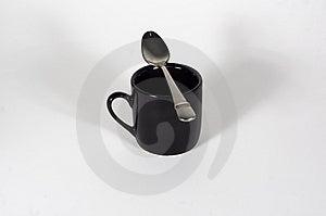 Espresso & Spoon Free Stock Photo