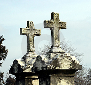 Two Crosses Royalty Free Stock Photo