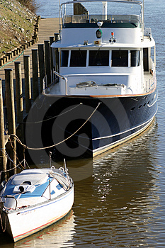 Dock Side Stock Image