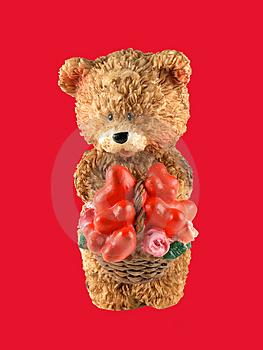 Valentine Bear Cub Royalty Free Stock Photos