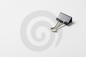 A Lonely Paper Clip Stock Image