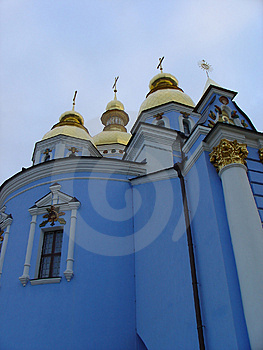 Blue Church Free Stock Photography