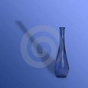 Blue Vase Royalty Free Stock Photography