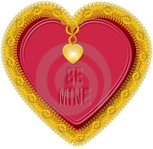 Καρδιά 5 βαλεντίνων Στοκ Εικόνες