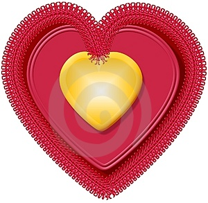 Valentinsgrußherz 4 Lizenzfreies Stockbild