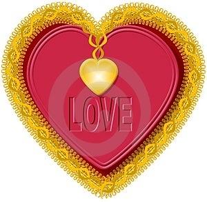 Καρδιά 1 βαλεντίνων Στοκ Εικόνα