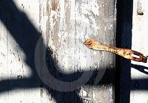 Shadow On Door Free Stock Images