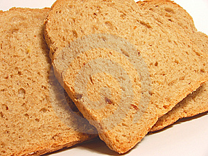 Bread slides Royalty Free Stock Photography