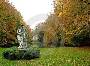 Jour brumeux d'automne Image libre de droits