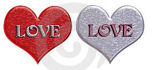Matching 'love' Hearts Free Stock Images