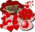 Hearts, flowers & candy Royalty Free Stock Photo