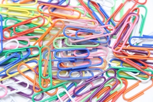Stock Image - Paperclips