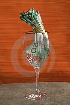 Money 033 bill cad in glass Stock Images